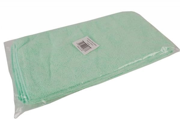 Contract Microfibre Cloth Pack 10 - Green